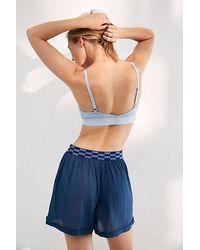 Intimately Sleep Talk Boxer Shorts - Blue