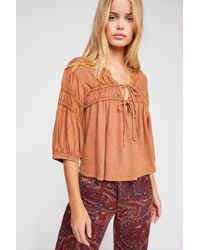 Free People - We The Free Lucky Honey Tee - Lyst