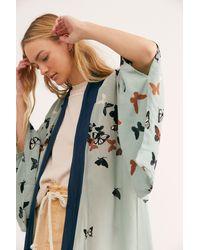 Free People Butterfly Kisses Kimono - Multicolour