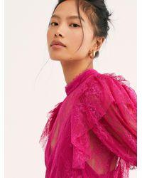 Free People Secret Admirer Blouse - Pink