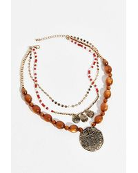 Free People Holiday Layered Necklace - Brown