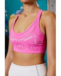 Free People Crochet My Way Sports Bra By Fp Movement - Pink