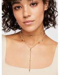 Free People - Pretty Lover Delicate Bolo Necklace - Lyst
