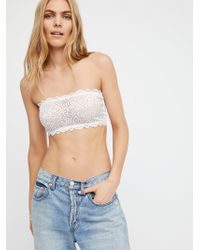 Free People Seamless And Lace Reversible Bandeau By Intimately - White