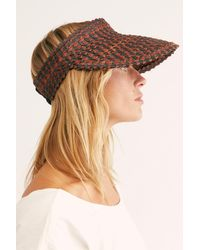Free People Island Hopper Speckled Straw Visor By Beachgold - Multicolour