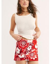 Free People - That's A Wrap Printed Mini Skirt - Lyst