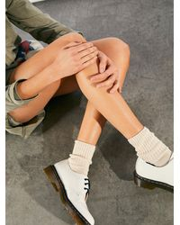 Free People Dr. Martens 1461 Patent Lamper Oxfords - White