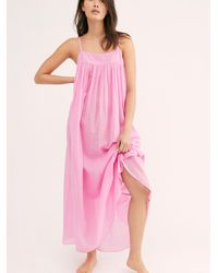 Free People On My Own Maxi Slip By Intimately - Pink