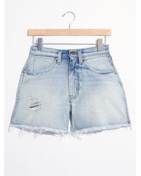 Free People Wrangler A Line Shorts - Blue