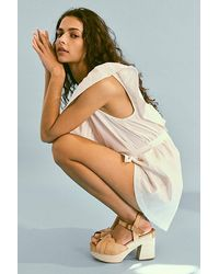 Free People Orion Woven Clogs - Natural