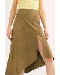 450b0db0ed Carolina K Lola Ruffle Wrap Skirt in Red - Lyst