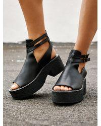 Free People Hallie Platform Sandal By Fp Collection - Black