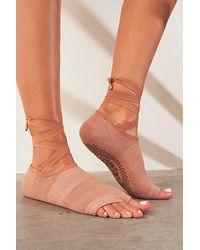 Fp Movement Lace-up Butti Grip Socks - Multicolour