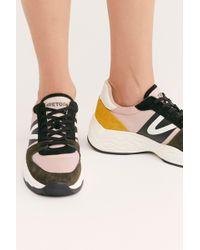ebdf0e2aebe Lyst - Steve Madden Women s Lexi Flyknit Wedge Sneakers in White