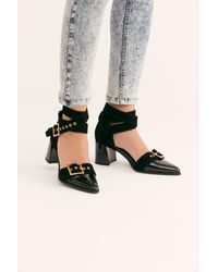 Free People Top Down Heels By Fp Collection - Black