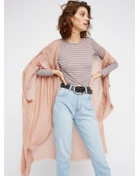 Free People Day Dream Washed Kimono - Pink