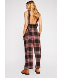 Free People - Feels Good To Be Plaid Jumpsuit By Intimately - Lyst