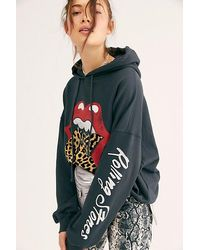 Daydreamer Rolling Stones Tongue Hoodie - Black