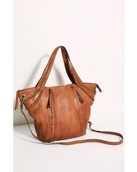 Free People Sloane Studded Tote - Brown
