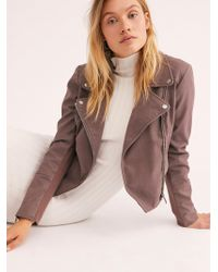 Free People - Delilah Cropped Moto Jacket - Lyst