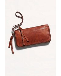 Free People Distressed Wallet - Multicolour