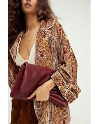 Free People Oversized Slouchy Clutch - Multicolour
