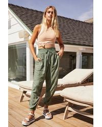 Free People Halfzies Trousers By Fp Movement - Green