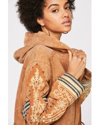 Free People Golden Quills Military Parka - Multicolour