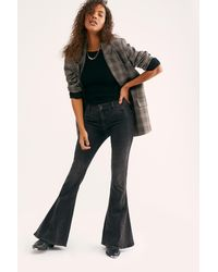 Free People Dream Lover Flare Jeans By We The Free - Black