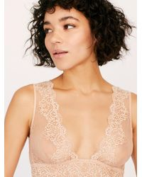 Free People So Fine Lace Tank Bralette By Only Hearts - Natural