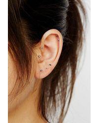 Free People Teeny Tiny Mega Stud Earring Set - Multicolour