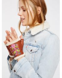 Free People | Flora Embroidered Handwarmer | Lyst