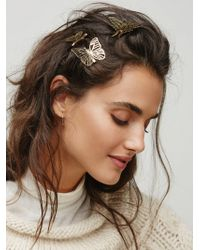 Free People - Fly Away Floating Hair Clips - Lyst