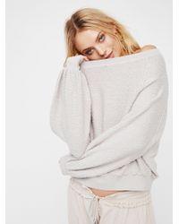 Free People Found My Friend Sweatshirt - Metallic