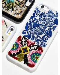 Free People Fp Embroidered Iphone Case - Blue