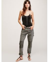 Free People Hank Patched Pant - Black