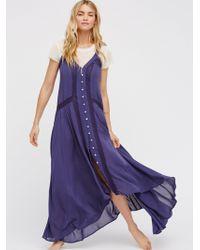 Free People - Kimmi Maxi Slip Dress - Lyst