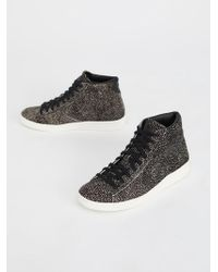 Free People - Premium Faux Fur Hi-top Sneaker - Lyst