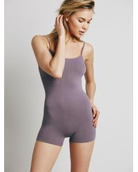 Free People Seamless Romper - Grey