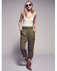 Free People Summer's Over Cargo Pants - Green