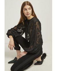 French Connection Bessie Crepe Devore Jumpsuit - Black