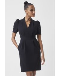 French Connection Ilkas Whisper Ruth Pencil Dress - Black