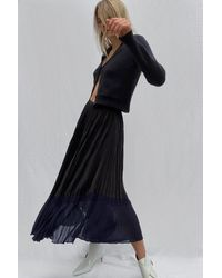 French Connection Crepe Light Pleated Skirt - Black