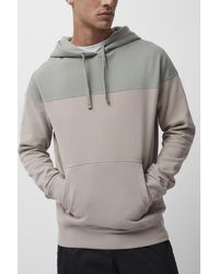 French Connection Colourblock Hoodie - Gray