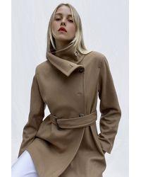 French Connection Ricio Platform Wool Wrap Coat - Multicolour