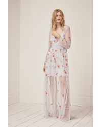 French Connection - Christy Bloom Embroidered Maxi Dress - Lyst