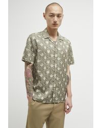 French Connection - Palm Print Lyocell Shirt - Lyst