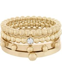 French Connection - Dotted Ring Set - Lyst