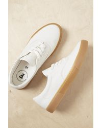 French Connection Ade Canvas Lace Up Sneakers - White