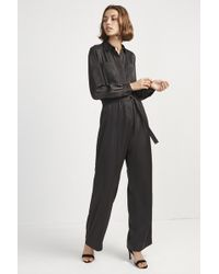 French Connection - Enid Crepe Jumpsuit - Lyst